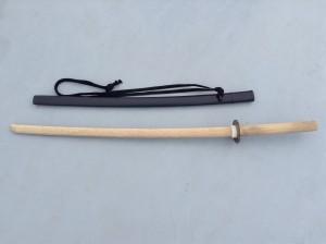 木刀とプラスチック鞘