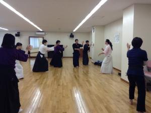 10/31浜松町教室の柔術稽古風景