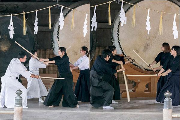 剣術の演武
