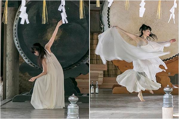 ダンサーでもある会員JさんとEさんの舞