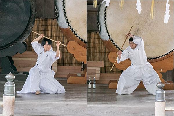 最後は永野師範と相良三段による杖の演武